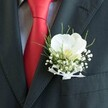 WHITE ORCHID GROOM BOUTONNIERE 2
