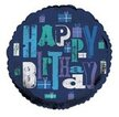 Happy Birthday Balloon in Blue